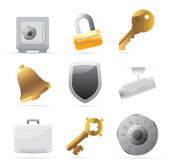 Icons for security — Stock Vector