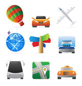 Icons for transportation — Stock Vector