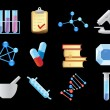 Stock Vector: Icons for chemistry