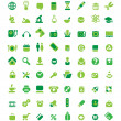 Set of green icons — Stock Vector