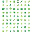 Set of green icons — Stock Vector #7457827