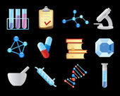 Icons for chemistry — Stock Vector