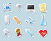 Sticker icons for science and education — Stock vektor