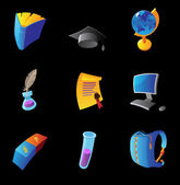 Icons for education — Vector de stock