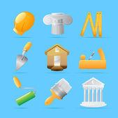 Icons for construction — Cтоковый вектор