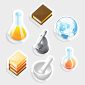 Sticker icon set for education — Stock Vector