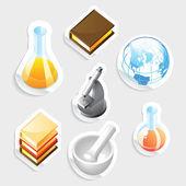 Icona di adesivo per educazione — Vettoriale Stock