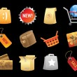 Icons for retail — Stock Vector