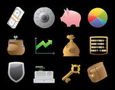Icons for finance, money and security — Stockvector