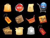 Ikony do sprzedaży detalicznej — Wektor stockowy