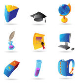 Icons for education — Stock Vector