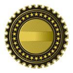 Golden Label — Stock Vector