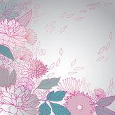Květinové pozadí — Stock vektor