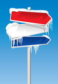 Frozen Signpost (illustration) — Stockvector