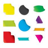 Colorful Stickers — Cтоковый вектор