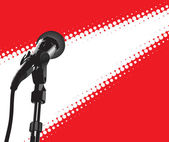 Microphone In Spotlight — Stock Vector