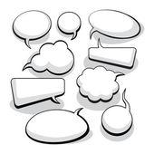 Meningsuiting en denken bubbels — Stockvector