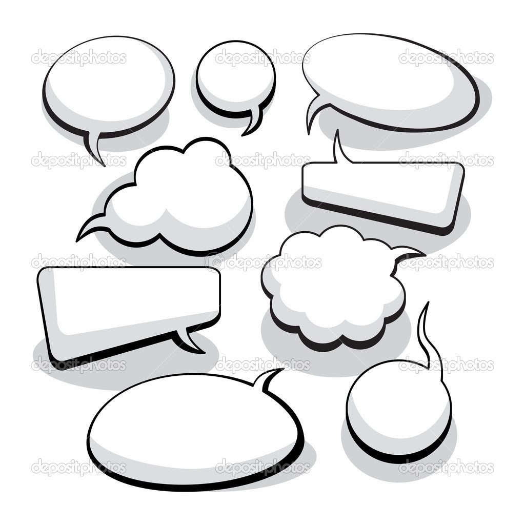 Speech And Thought Bubbles With Space For Text — Stock Vector #6775994