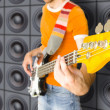 Urban Bass Guitar Player — Stock Photo