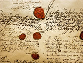Antiguo manuscrito — Foto de Stock