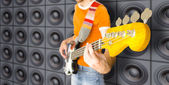 Urban Bass Guitar Player — Stock fotografie