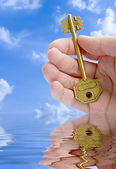 Giving A Key — Stockfoto