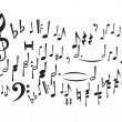 Music Notes (vector) — Stock Vector #6784453