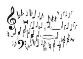Music Notes (vector) — Stok Vektör