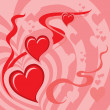 Hearts Background (illustration) — Stok Vektör #6959209