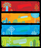 Nature Banners — Stock Vector