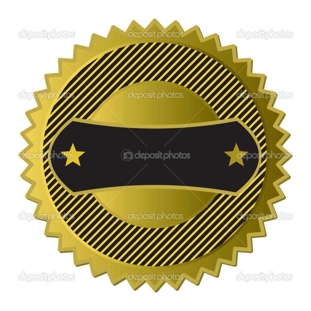 Golden Label (see more in my gallery)  Stock Vector #6959393