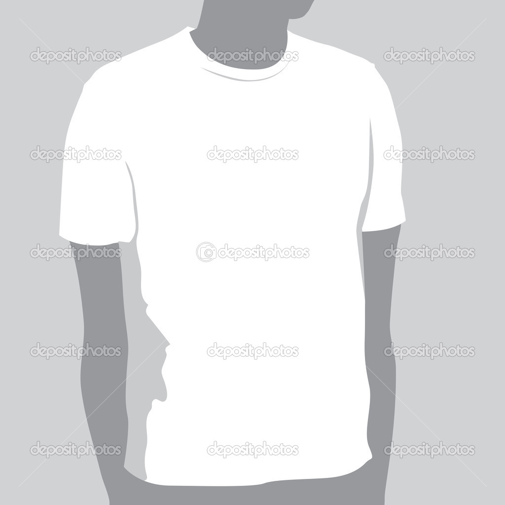 T-shirt Template With Space For Your Design  Stock Vector #6959398