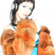 Trendy DJ Girl — Stock Photo