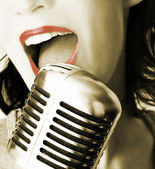 Retro Singer — Stockfoto