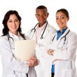Happy smiling doctor physician team - Stock Photo