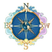 Wind rose — Stockvector
