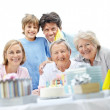 Royalty-Free Stock Photo: Mature male celebrating his birthday with family
