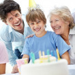 Royalty-Free Stock Photo: Birthday celebration - Happy family having fun together