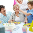 Royalty-Free Stock Photo: Happy family celebrating birthday party together