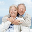 Royalty-Free Stock Photo: Happy senior couple enjoying holiday - Outdoor