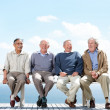 Royalty-Free Stock Photo: Group of old male friends enjoying themselves - Outdoor