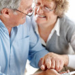 Royalty-Free Stock Photo: Beautiful elderly couple looking at each other