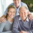 Royalty-Free Stock Photo: Portrait of a happy family smiling together