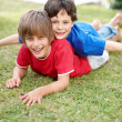 Royalty-Free Stock Photo: Portrait of two cute brother playing together