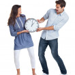 Royalty-Free Stock Photo: Relationship problem - Young couple fighting over time