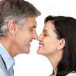 Happy mature couple sharing a funny moment - Stock Photo