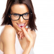 Royalty-Free Stock Photo: Naughty young female wearing glasses
