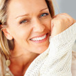 Royalty-Free Stock Photo: An attractive Caucasian woman giving you warm smile