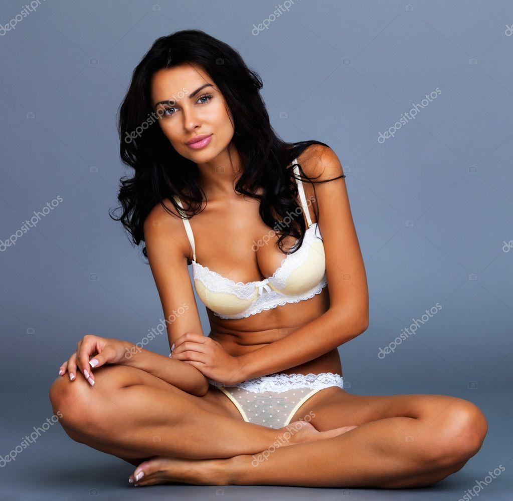 a seductive bikini woman