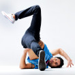 Street dance - A bboy showing his dancing skills - Stock Photo